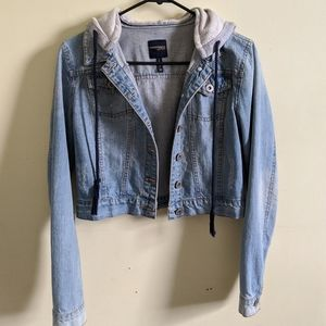 Jean Jacket with a Hoodie